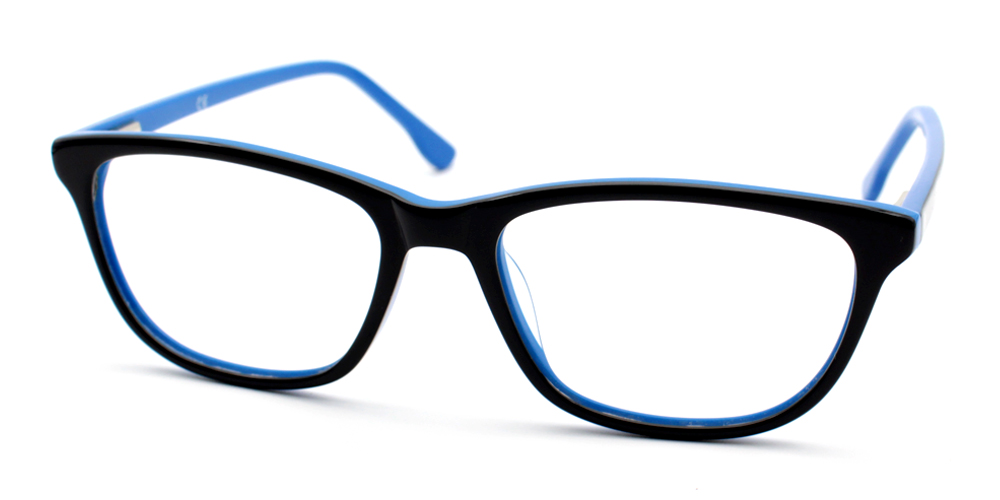 Prescription Glasses A1856 BLACK BLUE