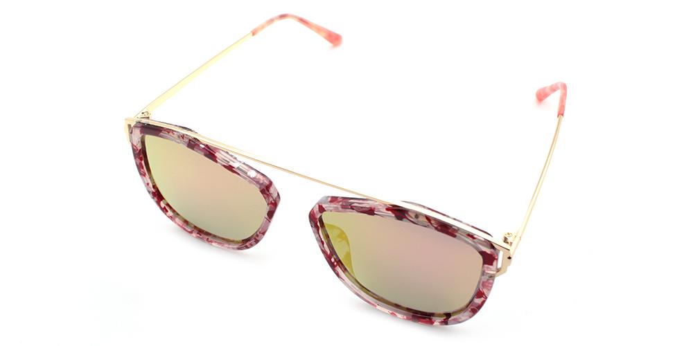 Prescription Sunglasses S6059 PINK CLEAR C3
